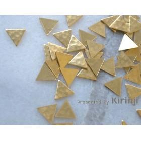 (2)#UD100305 真鍮パーツ「三角」ハンマー打ち