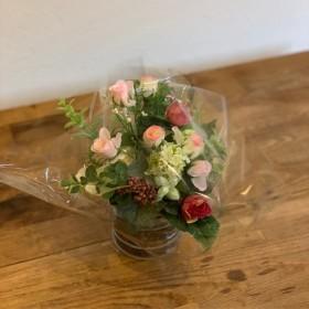 フラワーアート 造花 アレンジ オシャレ インテリア 花 花束 瓶 ビン 飾り ギフト