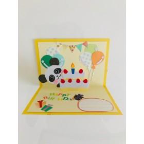 パンダさん お誕生日 飛び出すカード
