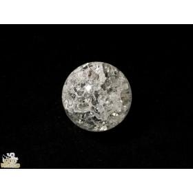 【L-09a】クラック水晶 20㎜ 1粒 穴あり