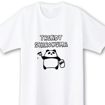トレンディしろくま【ホワイト】ekot Tシャツ 5.6オンスイラスト:店長 里一磨>