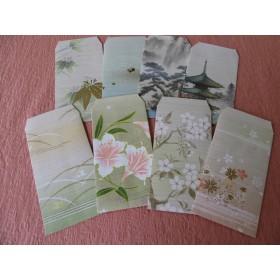 祝儀袋花柄ミックス(糸織紙)8枚