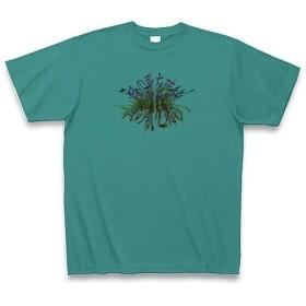 風の歌を聴け◆アート文字◆ロゴ◆ヘビーウェイト◆半袖◆Tシャツ◆ピーコックグリーン◆各サイズ選択可