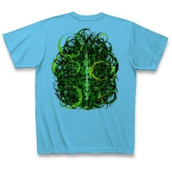 KAGUYAHIME3◆アート文字◆ロゴ◆ヘビーウェイト◆半袖◆Tシャツ◆シーブルー◆各サイズ選択可