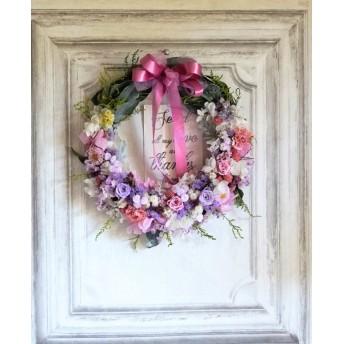 贈呈用リース' Crescend' Wreath:ウェルカムボードリース