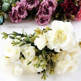 【再販】アンティークカラーが素敵な可愛いお花【ホワイト】造花・アーティフィシャルフラワー・花材 #7082410
