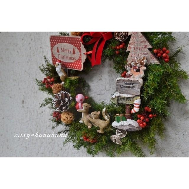 森のリスたちの*クリスマスwreath