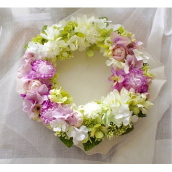 sweet bridal pink wreathブライダルピンクリース