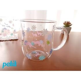 フェレット 花柄マグカップ