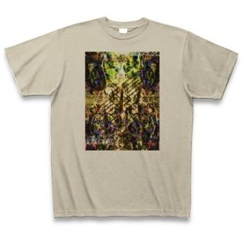 有効的異常症候群風雷◆アート文字◆ロゴ◆ヘビーウェイト◆半袖◆Tシャツ◆シルバーグレー◆各サイズ選択可