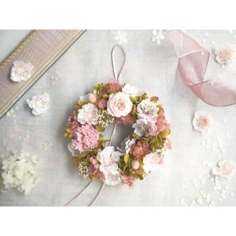 受注制作 Petite Couronne<Sakura>*桜色・幸せ舞い込むリース ミニ・桜・プリザーブドフラワー*花