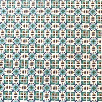 モロッコタイル柄の包装紙