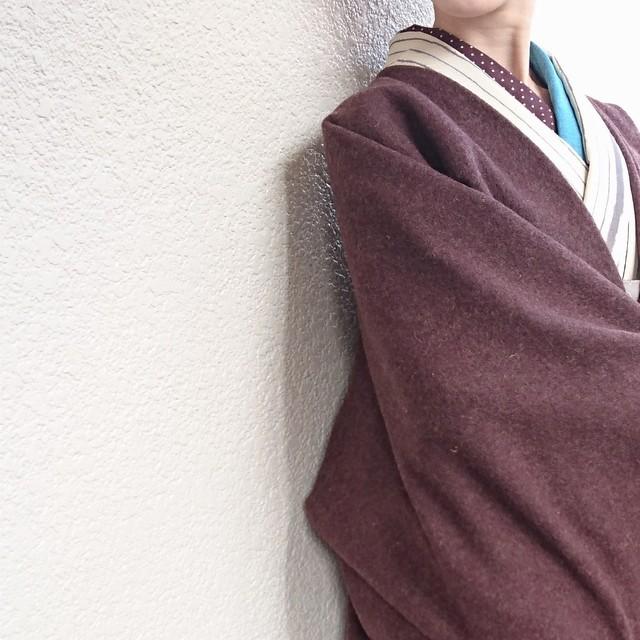 粋☆きものジャケット・イタリア製モヘヤニット