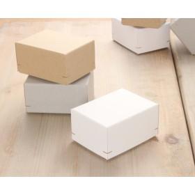 【1箱】角留め箱 ギフトボックス(M50)75×100×52㎜ グレー・クラフト・ホワイト 日本製 box ラッピング ケース 箱 B022-B024 ★H★