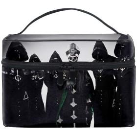 ゴーストバンドトイレタリーバッグ トラベルポーチ 洗面用具入れ 化粧ポーチ バスルームポーチ マジックテープ フック付き