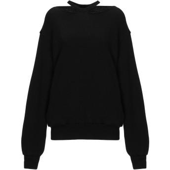 《セール開催中》BEN TAVERNITI UNRAVEL PROJECT レディース スウェットシャツ ブラック XS コットン 93% / カシミヤ 7%