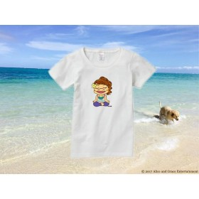 レディースTシャツ(ヨガちゃん)