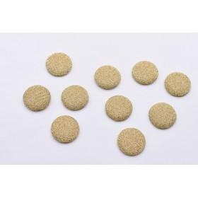 送料無料20個ゴールドワイヤー柄 半円 包みボタン デコパーツ26mmB229-1