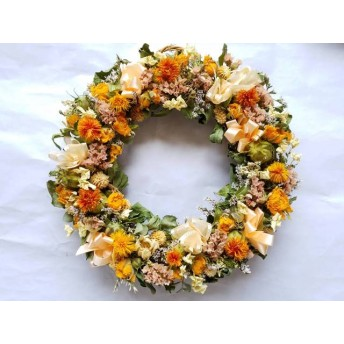 紅花のリース!Natural driedflower wreath