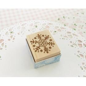 雪の結晶はんこ(クリスマスカード・年賀状に)