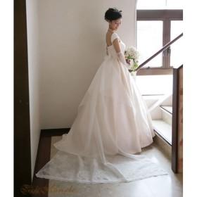 ロングバックトレーン【Heart】ドレストレーン 結婚式
