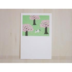 Post Card 4枚セット/P3_桜と猫