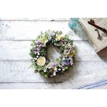 【Sサイズ】Little flower モーブカラーの小花のリース