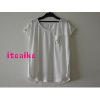 真っ白なTシャツにラメたっぷり☆☆きりんTシャツ♪(ホワイト)