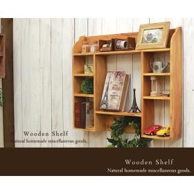 【送料無料】アンティーク風 シェルフ 木製 棚 ナチュラル