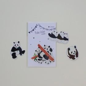 COMO フレークシール・パンダ〈木登りなど〉
