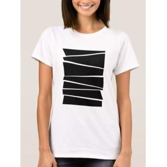 モノトーン グラフィック Tシャツ