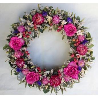 春の訪れをお部屋に2♪ピンク薔薇のリース