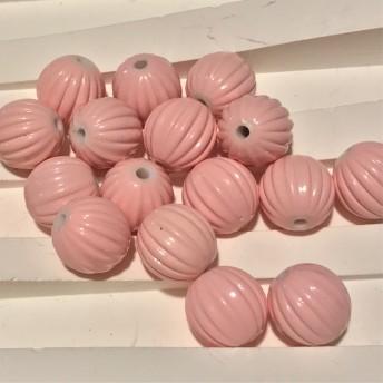 アクリル メロン ビーズ ベビー ピンク 12mm 20個