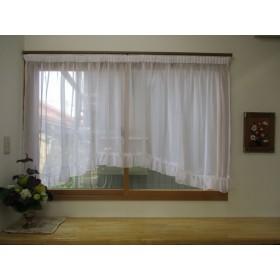 スタイルカーテン(アーチ型・WH色)