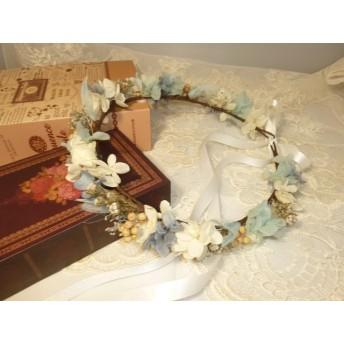 クリアランスsale小花の花冠(ブルー)