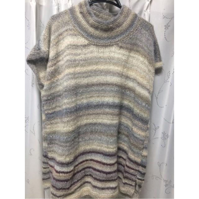ハンドメイドモヘヤロングセーター
