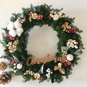 ヒムロスギのクリスマスリース L(27cm)