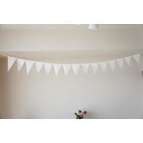 布ガーランド 290cm フラッグ 旗 結婚式 誕生日 パーティー キャンプ 飾り ホワイト