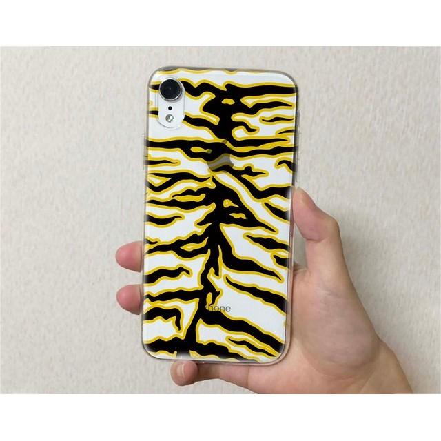 iPhone11 iPhone11 Pro iPhone11 Pro Max iPhone8 iPhoneXS 全機種対応☆クリアケース TPUケース クリアケース アニマル柄(タイガー)