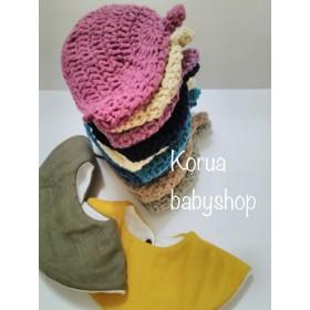 冬の新作♪どんぐり帽子と名入れスタイセット♪出産祝いやお出掛けに♪
