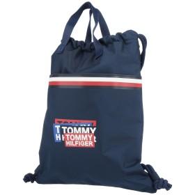 《セール開催中》TOMMY HILFIGER Unisex バックパック&ヒップバッグ ダークブルー ポリアクリル 100%
