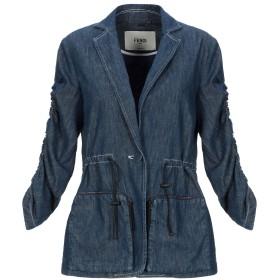 《期間限定セール開催中!》FENDI レディース テーラードジャケット ブルー 38 コットン 100% / ポリエステル