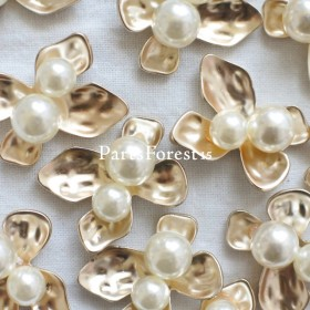 [4pieces] Pearl flower No.122
