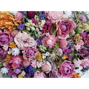 atelier blugra八ヶ岳〜春小花の白樺小枝壁掛けフレーム02