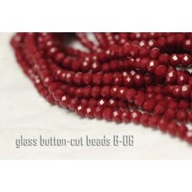 4mm【1連約140粒】ガラスボタンカットビーズ《B-06》エジプシアンレッド