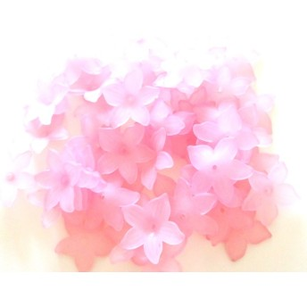 *入手困難*フラワービーズパーツA小 ピンク 中袋