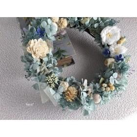 Mist Green x White  wreath 春待ちリース  母の日