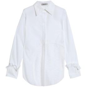 《セール開催中》NINA RICCI レディース シャツ ホワイト 38 コットン 100% / レーヨン / ナイロン