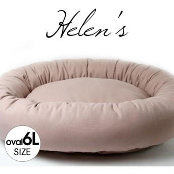 【受注制作2】シンプルベッド ホリホリ大好きちゃん用 11号ビンテージ帆布生地 くすんだピンク色 oval6Lサイズ