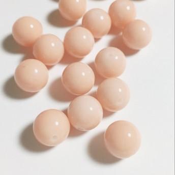 【再販】6個10mm アクリル ビーズ ラウンド アースカラー ピンク